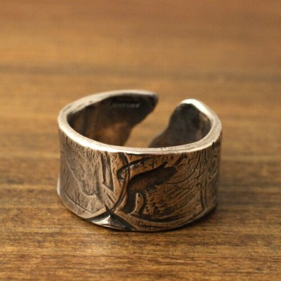 Atease COIN STAMP RING/L