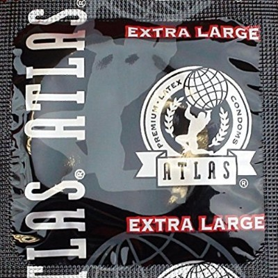 Atlas Extra Large Premium Lubricated Latex Condoms with Silver Pocket/Travel Case-24 Count by Atlas
