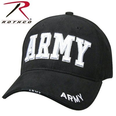 【15%OFFセール開催中】ROTHCO ロスコ Deluxe Army Low Profile Cap BLACK 【9385】/ ミリタリー ギフト