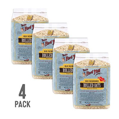 Bob's Red Mill Gluten Free Old Fashioned Rolled Oats, 32-ounce (Pack of 4) by Bob's Red Mill