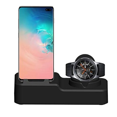VICARA for Samsung Galaxy Watch 46mm/42mm/Active 40mm&Galaxy Buds スタンド 3 IN 1 多機能 USB充電器 収納スタンド 卓上...