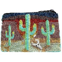 レディース JESSIE WESTERN SMALL BEADED ZIP PURSE ポーチ グリーン