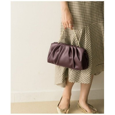 【SALE/70%OFF】URBAN RESEARCH COUTURE MAISON ギャザーPUクラッチ アーバンリサーチ バッグ バッグその他 ブラック ホワイト