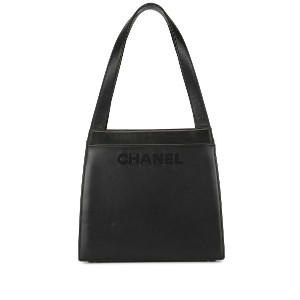 Chanel Pre-Owned 1998's ロゴ ハンドバッグ - ブラック