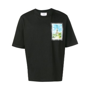 Ami Paris Tee With Postcard Print - ブラック