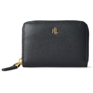 レディース LAUREN RALPH LAUREN LEATHER ZIP WALLET 財布  ブラック