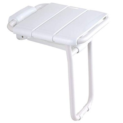 Chair Folding Shower Applicable to The Elderly, Pregnant Women, The Disabled (Color : White)