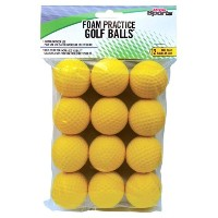 Yellow Foam Practice Balls【ゴルフ ボール】