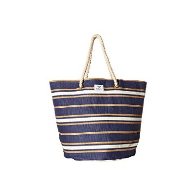 ROXY ストライプ 【 STRIPE SUNSEEKER TOTE MEDIVAL BLUE MACY SWIM 】 バッグ 送料無料