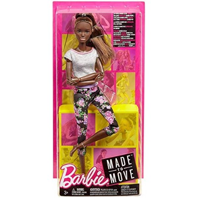(Original, Brunette Ponytail) - Barbie Made to Move Doll - Original with brunette ponytail