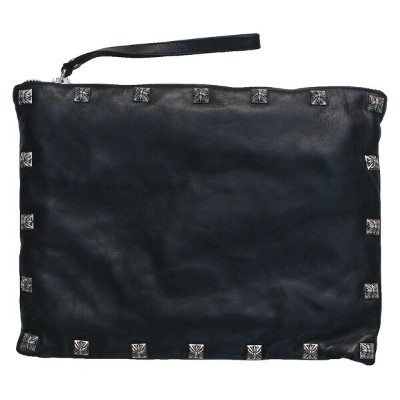 CHROME HEARTS CLUTCH STUDDED BLACK クロムハーツ クラッチ STUDDED BODY AND STUDS