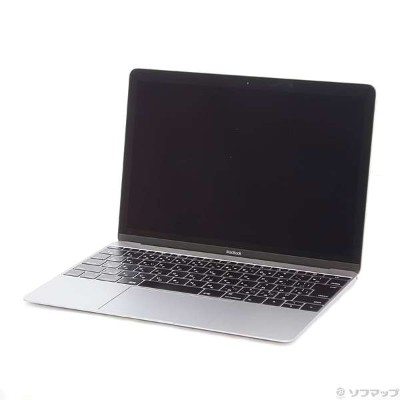 【中古】Apple(アップル) MacBook 12-inch Early 2015 MJY32J/A Core_M 1.1GHz 8GB SSD256GB スペースグレイ 〔10.10...