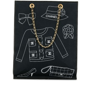 Chanel Pre-Owned プリント ハンドバッグ - ブルー