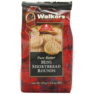 Walkers Mini Shortbread Rounds 125 g (Pack of 6)