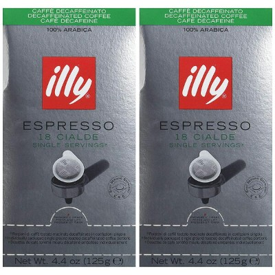 illy Caffe Decaffeinated Coffee Espresso (Regular Roast, Green Band), 18-Count E.S.E. Pods (Pack of...