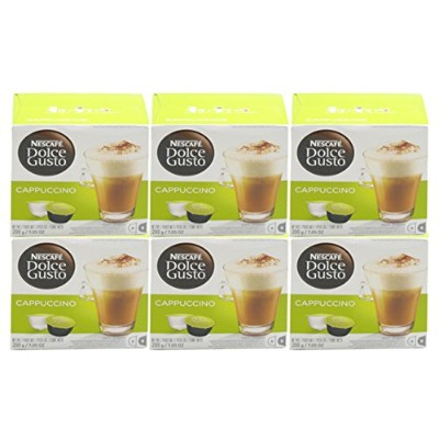 Nescaf? - Dolce Gusto - Cappuccino Skinny & Light Coffee Pods 8 Drinks - 161.6g