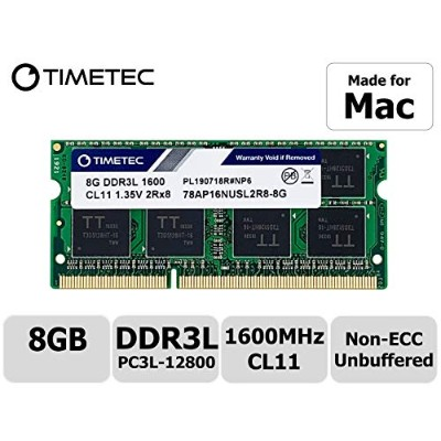 Timetec Hynix IC 8 GB Mac用 DDR3L 1600 MHz PC3L 12800 SODIMM Apple専用増設メモリ 永久保証 8GB