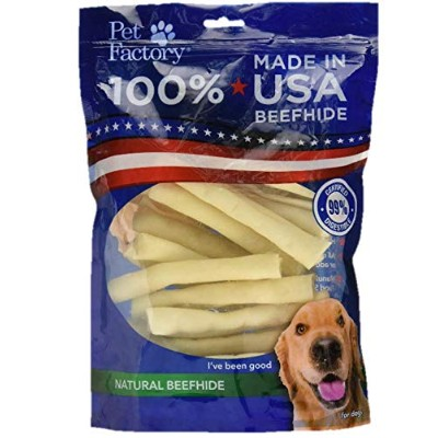 PET FACTORY 78107 Usa 5-Inch Chip Rolls Chews for Dogs, by Pet Factory