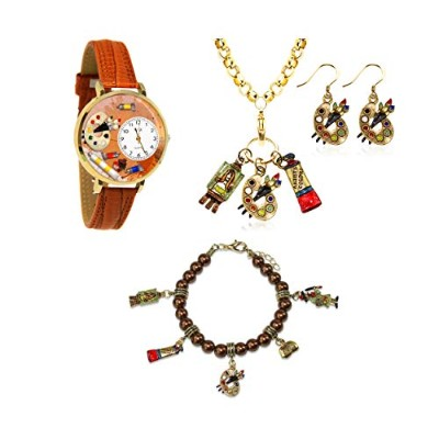 (Artist Gold) - Whimsical Gifts Profession 4-piece Jewellery Sets