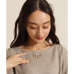 【anatelier(アナトリエ)】 モチーフパールネックレス OUTLET > anatelier > アクセサリー > ネックレス ブラウン
