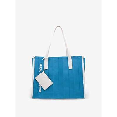 JUNNY CANVAS TOTE BAG (BLUE&WHITE)
