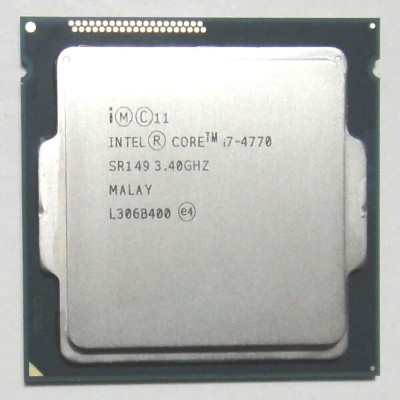 【中古】Core i7 4770 3.4GHz SR149 LGA1150 Intel CPU