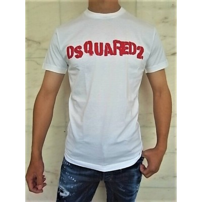 """DSQUARED2(ディースクエアード)【DSQUARED2】NEGATIVE DYED""""COOL FIT""""ショートスリーブTee☆WHITE☆"""
