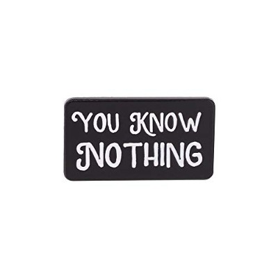 WIZARDPINS You Know Nothing Quote TVシリーズ エナメルピン