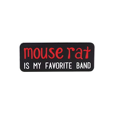 WIZARDPINS Mouse Rat is My Favorite Band 引用 TVシリーズ エナメルピン