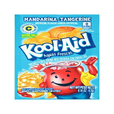 Kool-Aid Flavored Drink Mix、Unsweetened Aguas Frescas Mandarina-Tangerine、0.16 Ounce Packets(Pack...