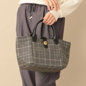 SALE【ル ジュール(LE JOUR)】 【CACHELLIE】ECO LEATHER HANDLE TOTE(M) ブラック