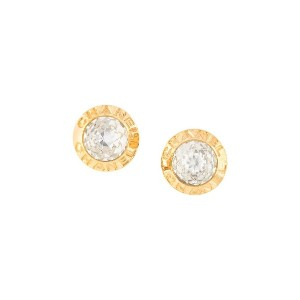 Chanel Pre-Owned 1997 AW logo round earrings - ゴールド