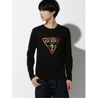 【SALE/30%OFF】GUESS GUESS/MEN'S L/SLV TEE SHIRT ビリゴ カットソー Tシャツ ブラック ホワイト【送料無料】