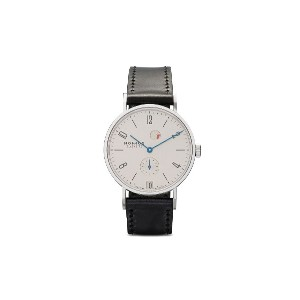 Nomos タンジェント パワーリザーブ デイト 35mm - White, Silver-Plated