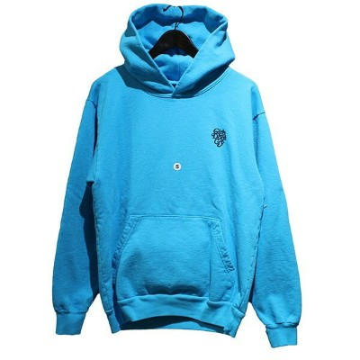 【中古】GIRLS DON't CRY × RARE PANTHER 19AW verdy harajuku day ロゴパーカー フーディー スカイブルー サイズ:S 【161019】...
