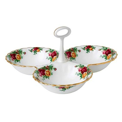 Royal Doulton Old Country Roses Divided Tray, 13cm, White