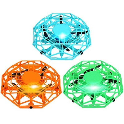 UFO Flying Toys Gesture Sensing Aircraft Drone Quadcopter Suspension Sensor UFO Helicopter Toys...