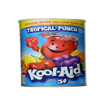 Kool-Aid Sugar Sweetened Tropical Punch Powdered Soft Drink、82.5 ozキャニスター Kool-Aid Sugar Sweetened...