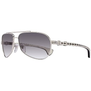 CHROME HEARTS BABY BEAST クロムハーツ サングラス Shiny Silver - White Ebony Wood