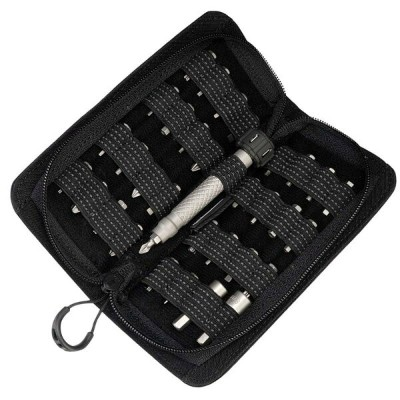 ドライバーセット チタン製 33種 防水ポーチ付 MecArmy Portable 33-in-1 Titanium Screwdriver Set with 500D CORDURA Nylon...