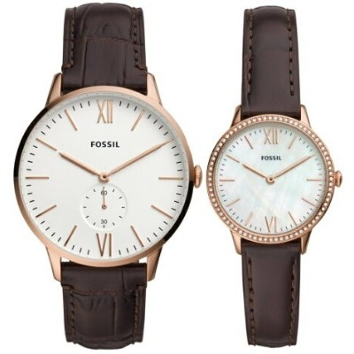 FOSSIL FOSSIL/(M/W)THE ANDY AND ADDISON SET フォッシル ファッショングッズ 腕時計 ホワイト【送料無料】