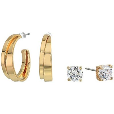 GUESS フープ 【 SMALL CZ STUD AND HOOP EARRINGS SET GOLD 1 】 ジュエリー アクセサリー レディースジュエリー 送料無料