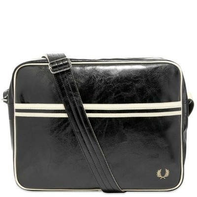 FRED PERRY AUTHENTIC オーセンティック クラシック & 【 CLASSIC SHOULDER BAG BLACK ECRU 】 バッグ 送料無料