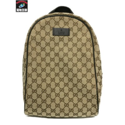 GUCCI GG canvas backpack ベージュ【中古】