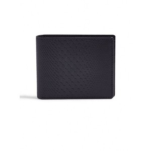 メンズ TOPMAN BLACK LEATHER CROCODILE WALLET 財布  ブラック