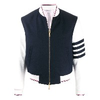Thom Browne 4-Bar rib bomber jacket - ブルー