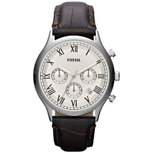 Fossil フォッシル メンズ腕時計 Men's FS4738 Ansel Chronograph Brown Leather Watch