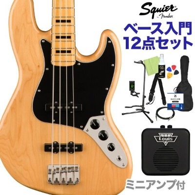 Squier by Fender Classic Vibe '70s Jazz Bass Maple Fingerboard Natural ベース 初心者12点セット 【ミニアンプ付】...