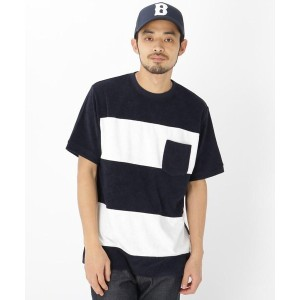 【BASE CONTROL(ベースコントロール)】 パイル ボーダー 半袖 Tシャツ OUTLET > BASE CONTROL > トップス > Tシャツ アイボリー