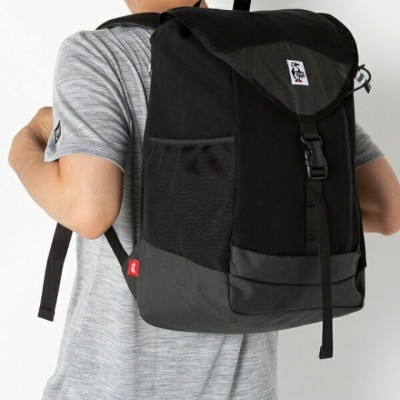 チャムス Book Pack Sweat Nylon 20L (CH60-2672 K018) トレッキング バックパック : Black/Charcoal-K018 CHUMS